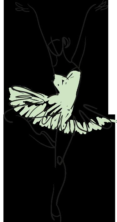 Vinilo decorativo boceto bailarina | Danza arte