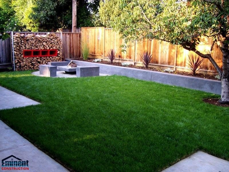 Backyard Idea well maintained yard Block Wall Ideas Eminent Construction Best Front Yard Back Yard Landscaping