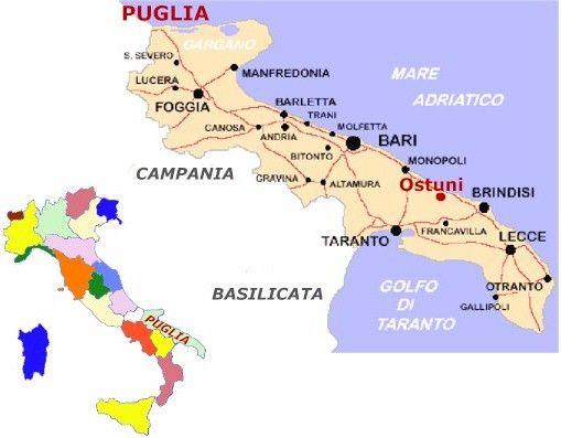 Map of Puglia Puglia Pinterest Puglia italy Italy and Italia