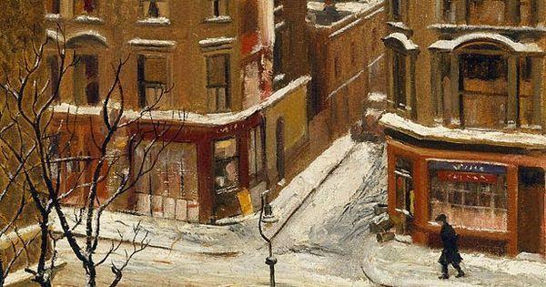 Noel Kilgour (Australian, 1900-1987), Snow in London, 1939. Oil on ...