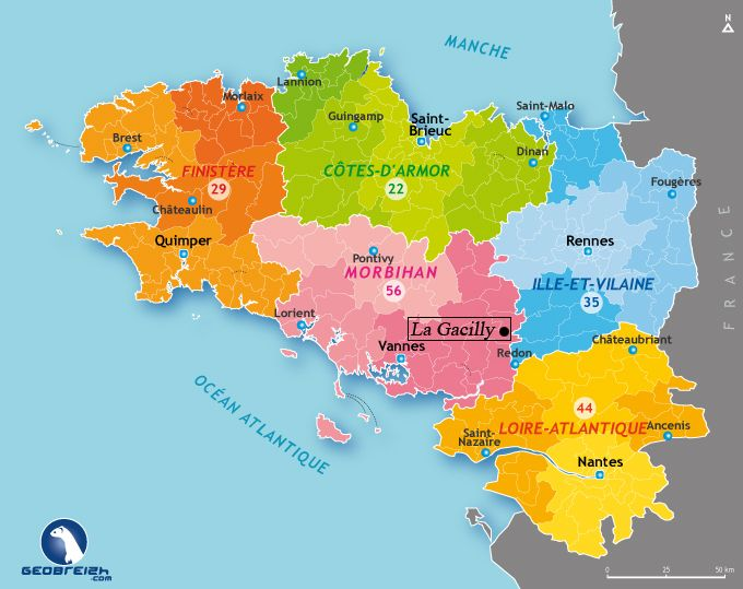 Maps Of Regions Departments In Brittany Les Breizhblogueuses