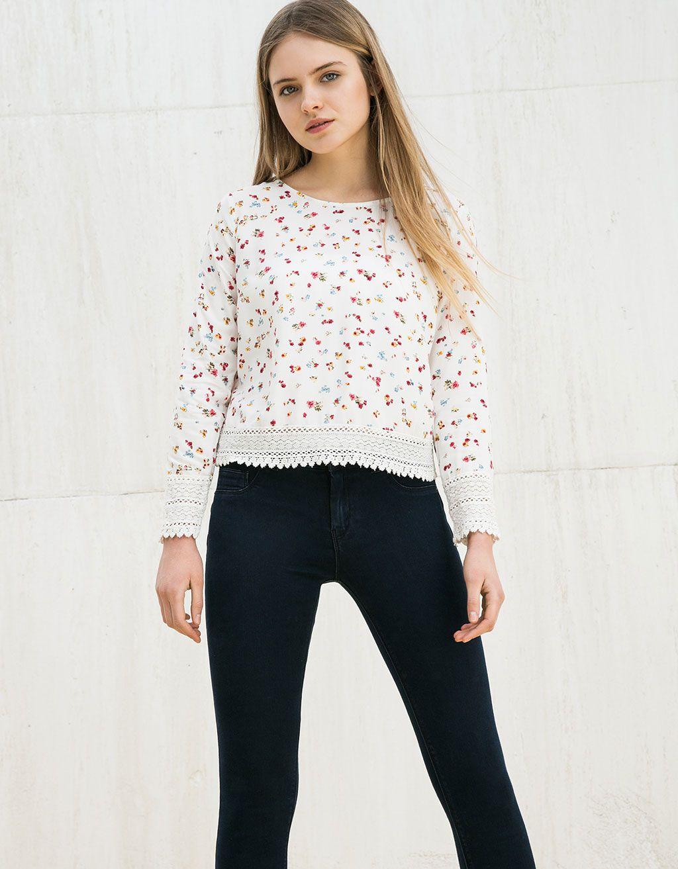 Bershka mexico blusa bsk con blonda ropa por comprar pinterest bershka blusas y portugal - Comprar ropa en portugal ...