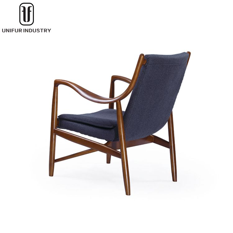 Finn Juhl, Replica Upholstered Model 45 Lounge Chair For Living Room