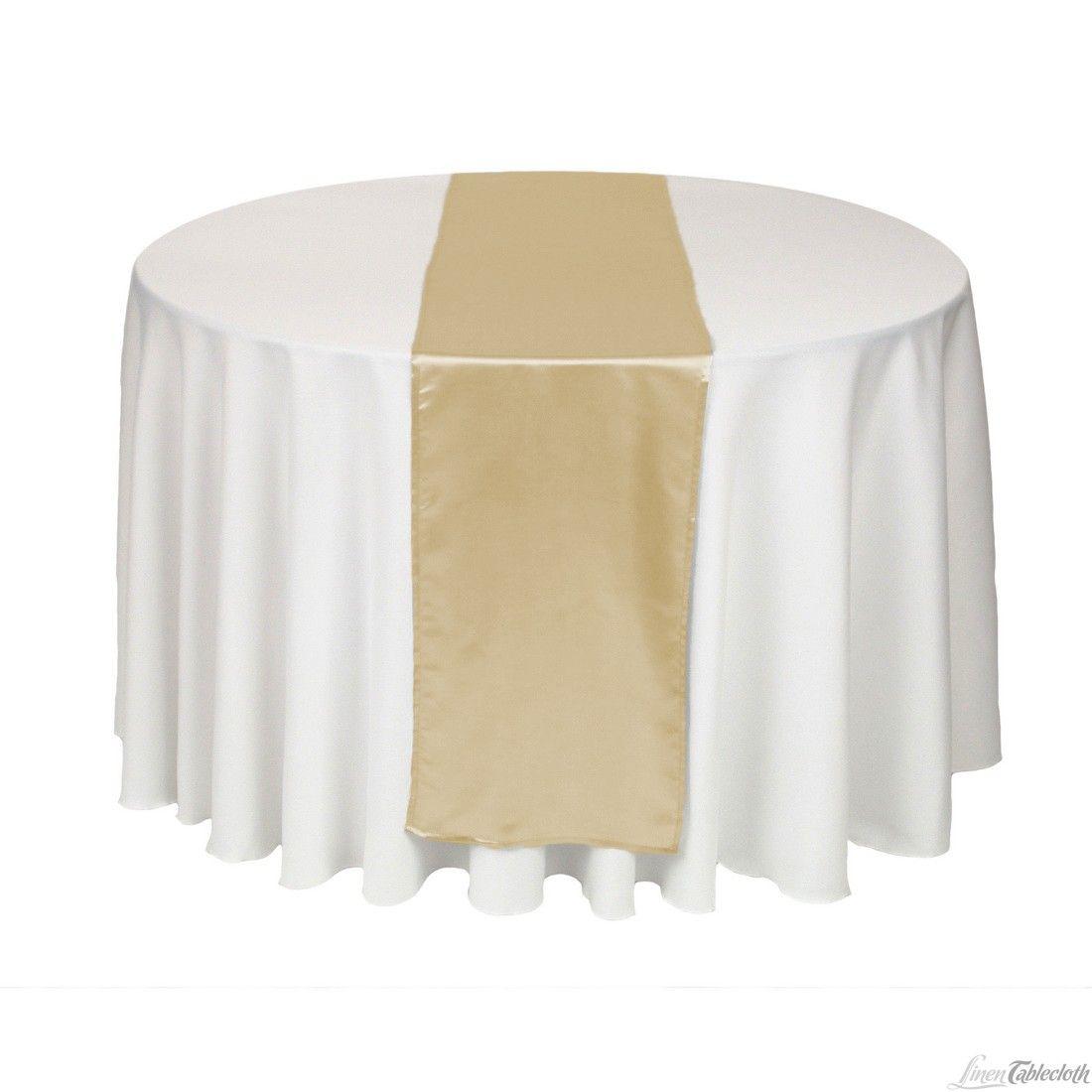 14 X 108 In Satin Table Runner Beige At Linentablecloth Com Manteles Para Bodas Decoracion De Unas Manteles
