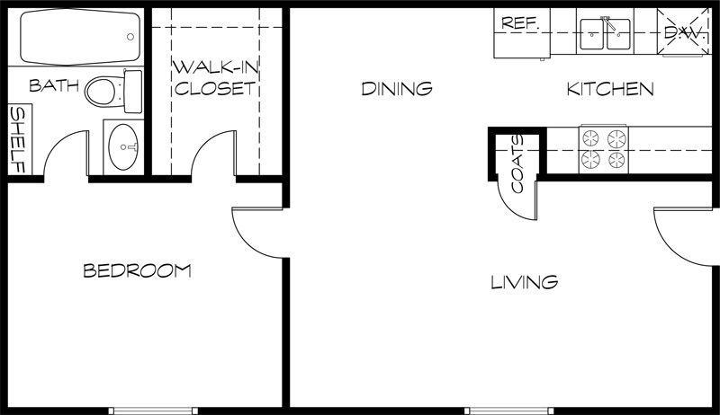 Studio apartment floor plans 400 sq ft and nha for Studio apartment floor plans pdf