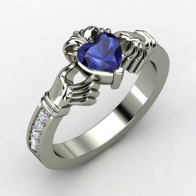 """""""The Claddagh ring (Irish: fáinne Chladaigh) is a traditional Irish ring given as a token of friendship, love, or marriage. The elements of this symbol are often said to correspond to the qualities of love (the heart), friendship (the hands), and loyalty (the crown)."""" This ring, though."""