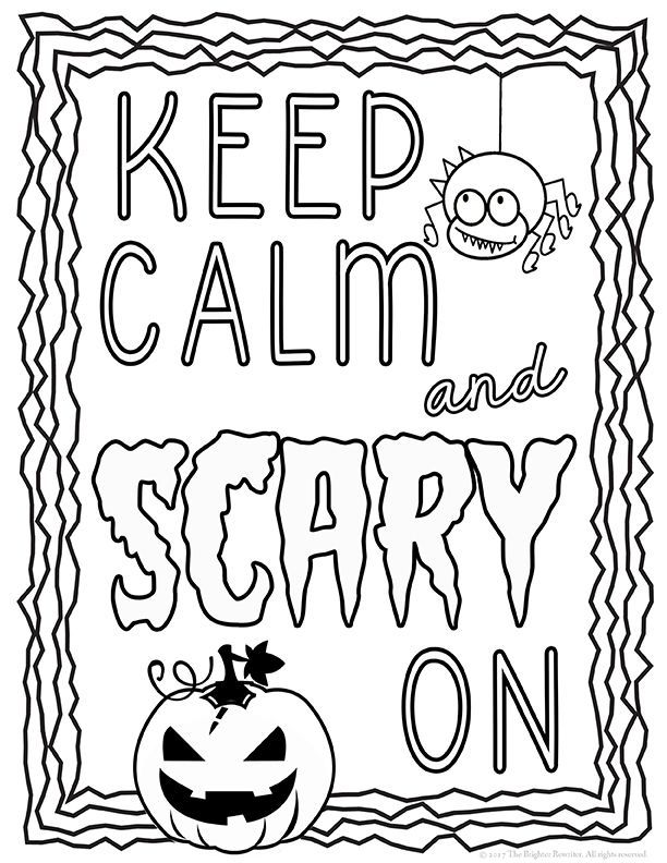 Halloween Coloring Pages Big Kids