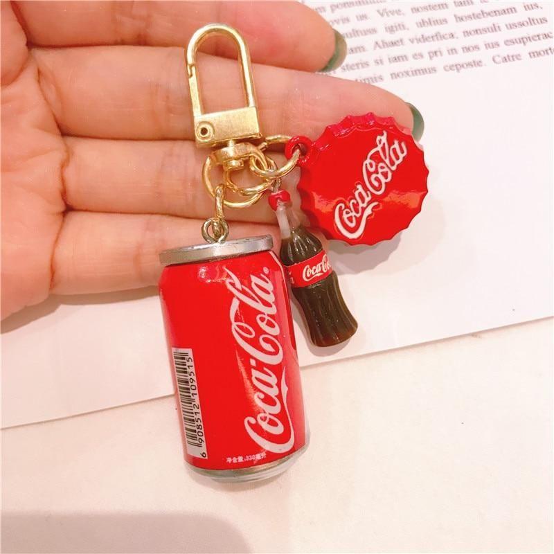 Coca-Cola Beauty Retro Keychain Key Chain