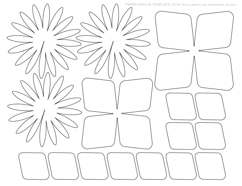 Diy Paper Dahlia The Idea King Templt Paper Dahlia Diy Paper
