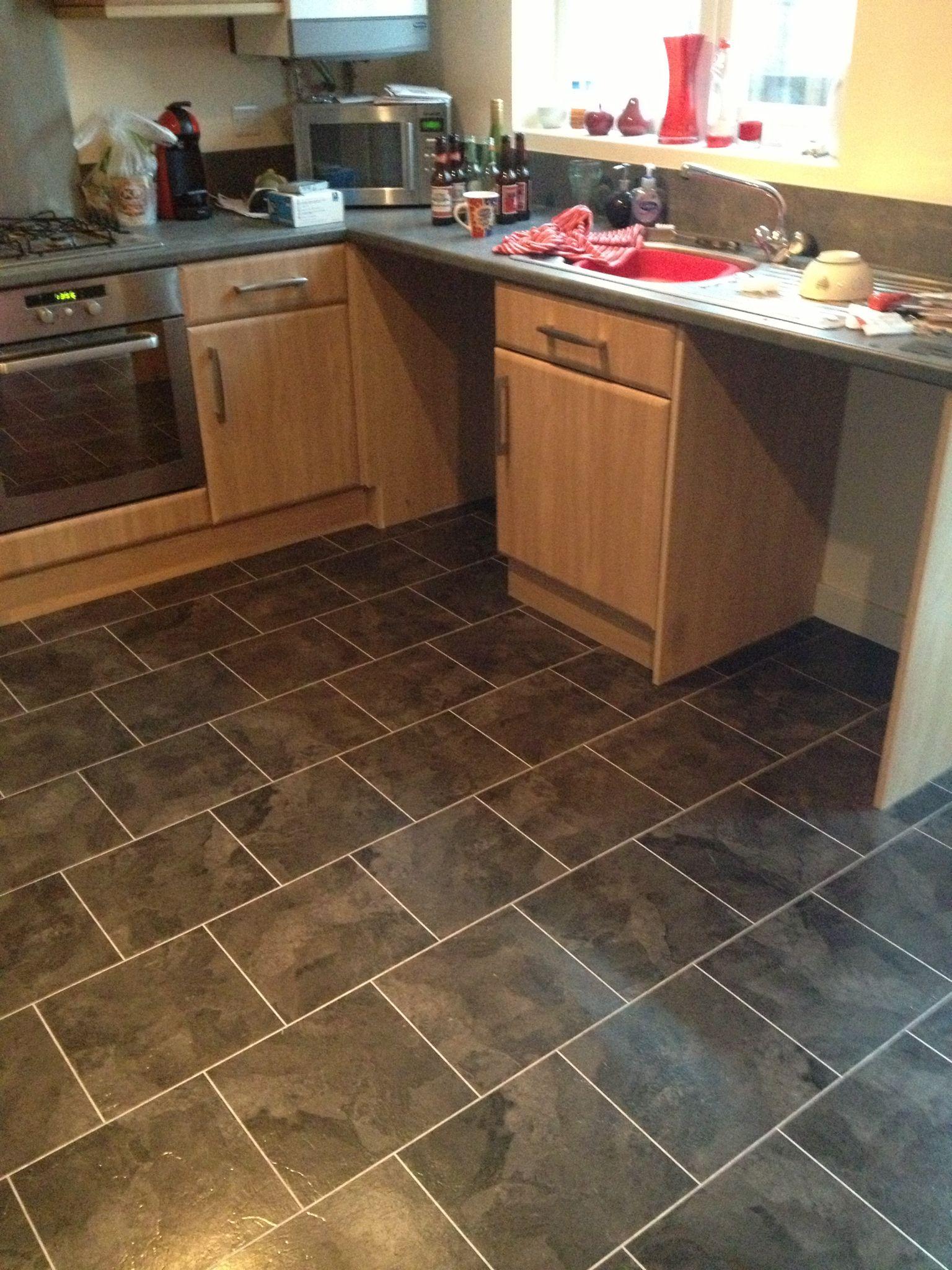 Karndean Knight Tile Onyx Luxury vinyl tile flooring