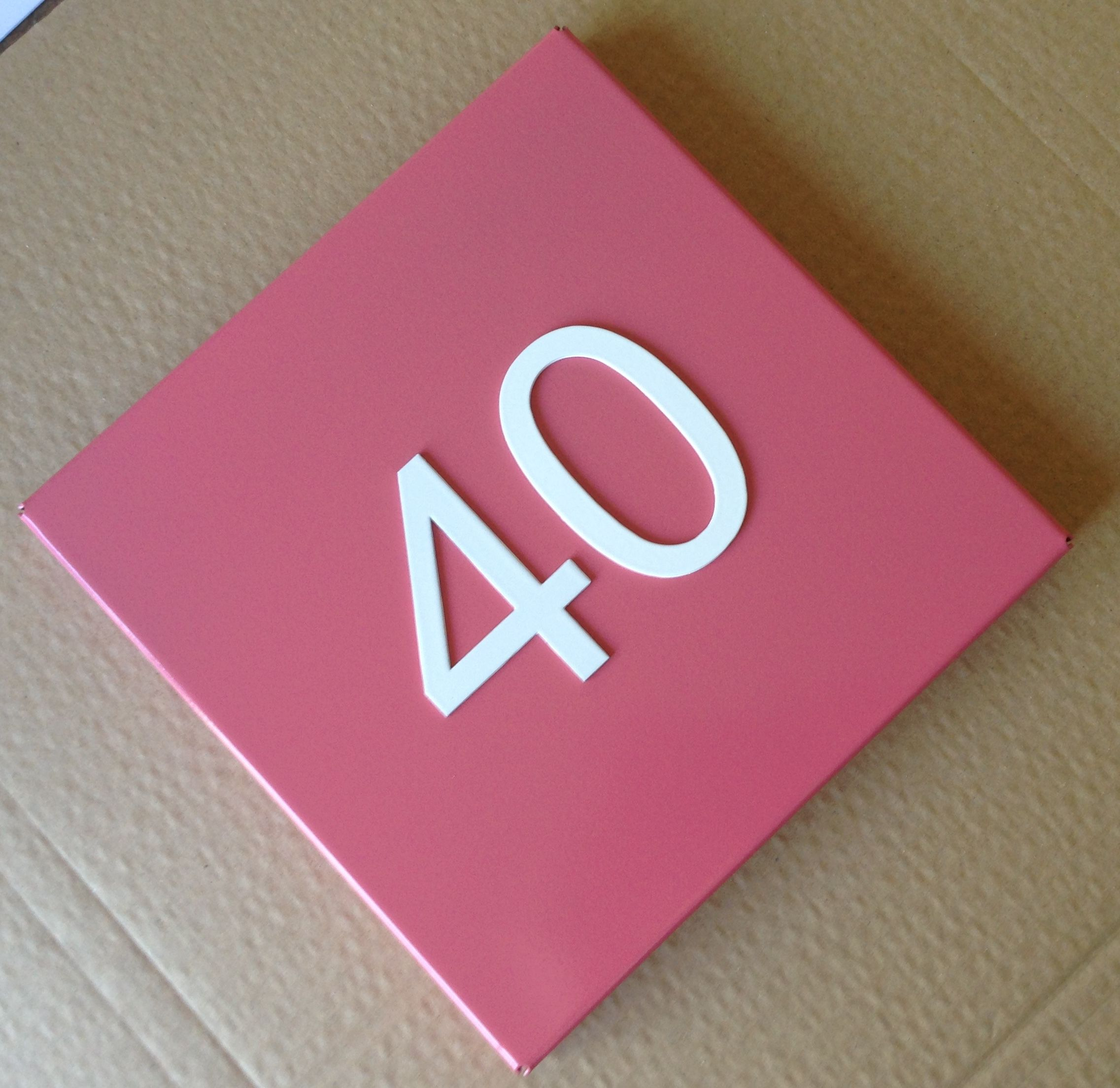 Miami Steel House Number Plate Blush | Kelly Contemporary Works ...