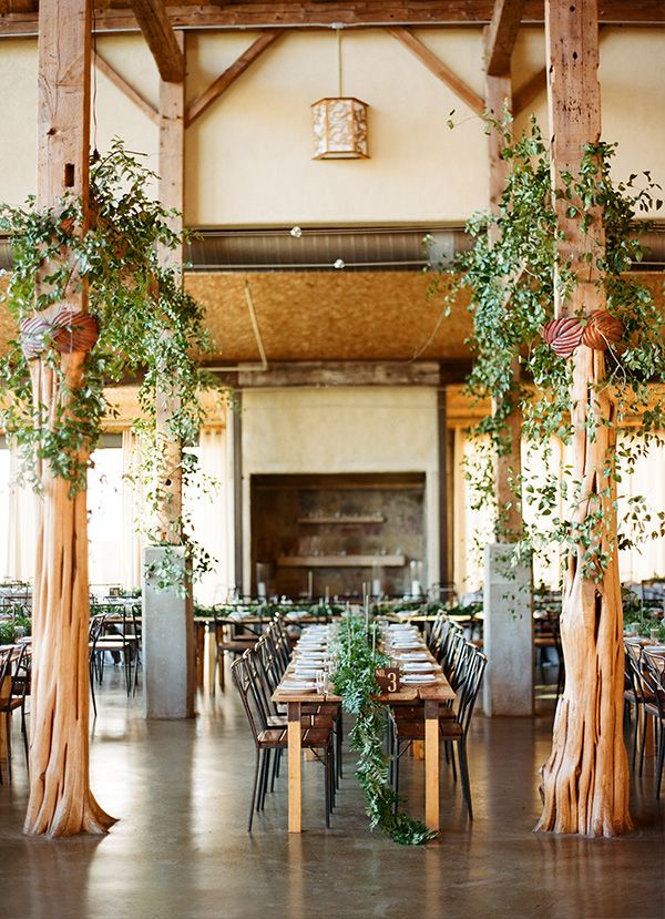 The Beams Over The Guest Tables Will Be Draped With Wild