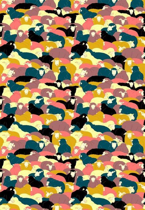 Sheep Herd: a cool print with meaning