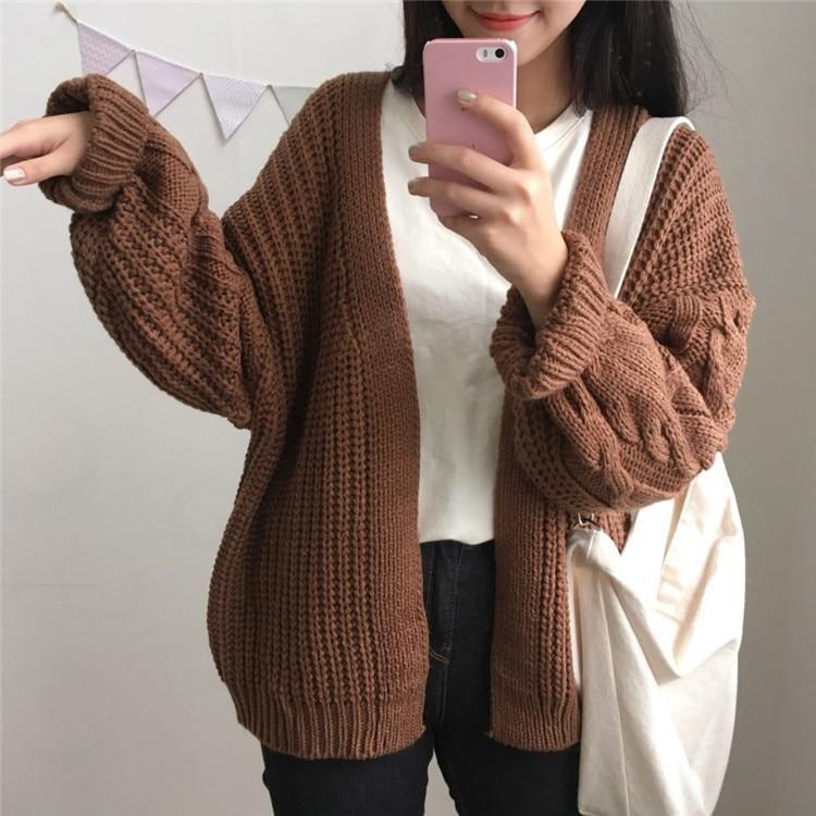 Warm Knit Sweater Cardigan
