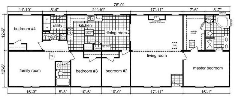 6 bedroom modular homes.  House Plans Original Levittown Ranch Floor Plan Bedroom Bath Best Free Home Design Idea Ashley Heights starting price 106 100 Our Homes Pinterest