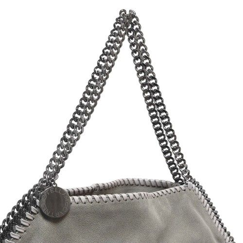 Stella McCartney Light Grey Shaggy Deer Falabella Big Tote - modaselle b55075ab38b67