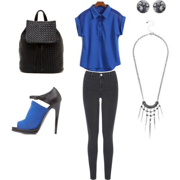 Black & cobalt daywear
