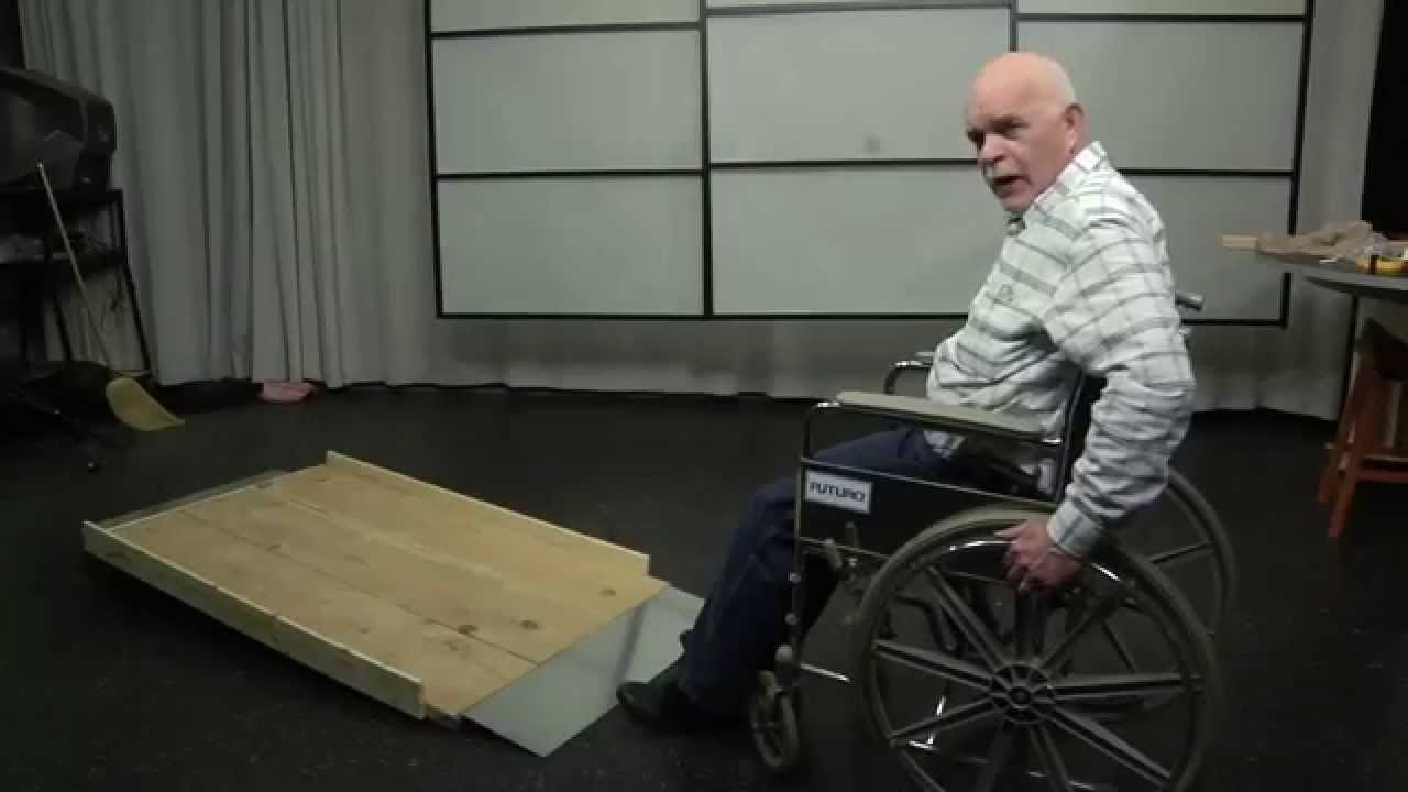 Build Long Inexpensive Residential Wood Wheelchair Ramps In 2hr   YouTube