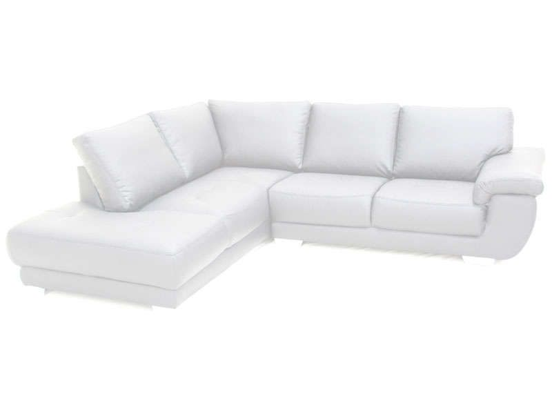 Canapé Angle Gauche Fixe Places GALAXY Coloris Blanc Vente De - Canapé angle gauche ou droit