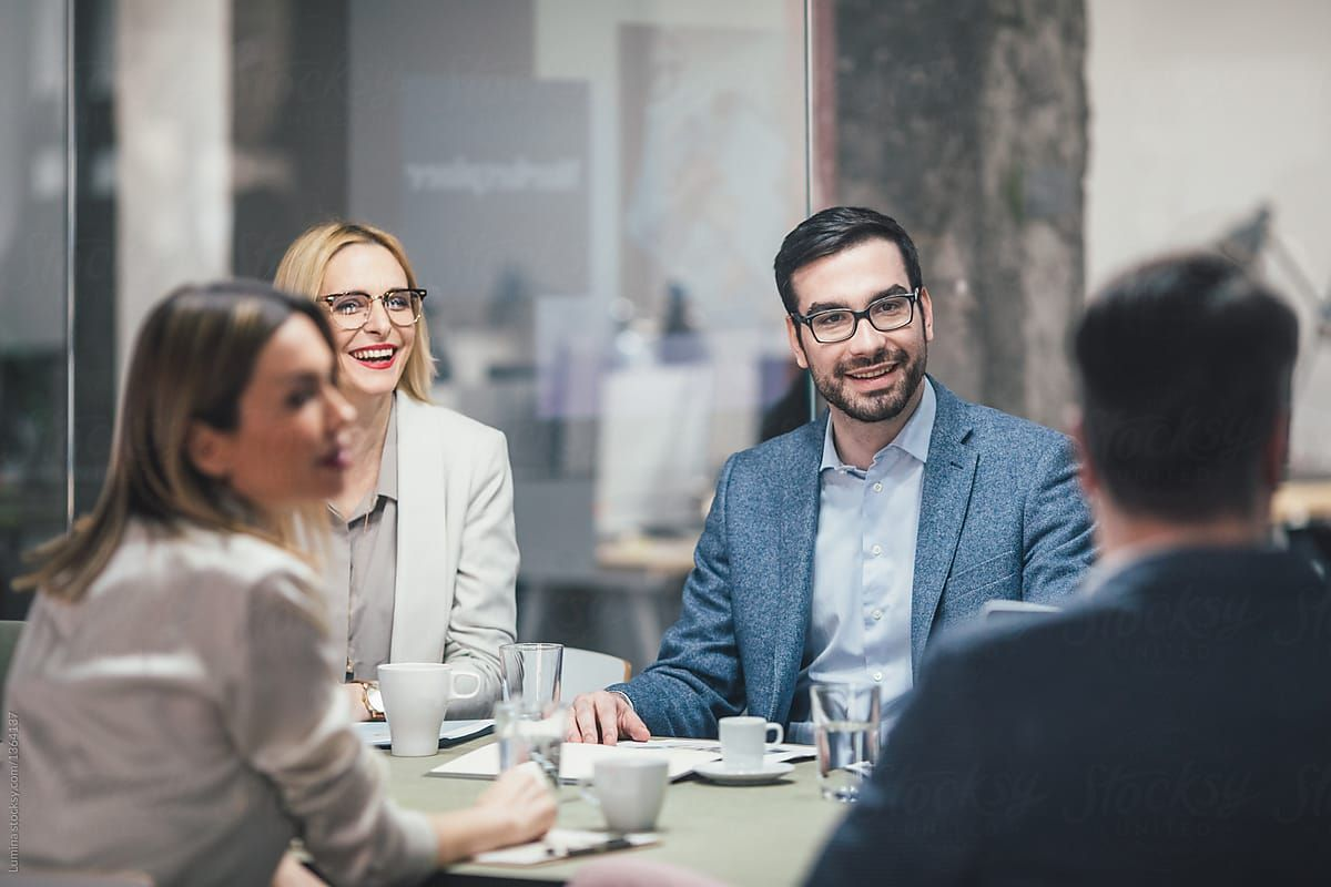 Businesspeople At Meeting Download This High Resolution Stock