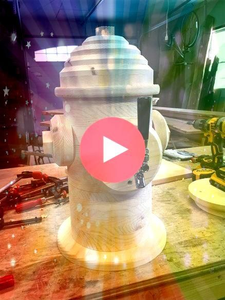wooden fire hydrant beer tap dispenser mad Awesome wooden fire hydrant beer tap dispenser mad  Wine Tray Wooden fire hydrants Artillero DIY Portable Stereo  Imgur Heck ye...