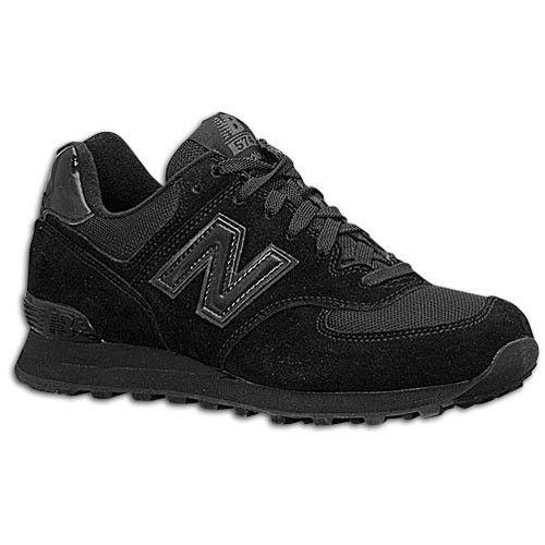 new balance classic 574 black mens trainers