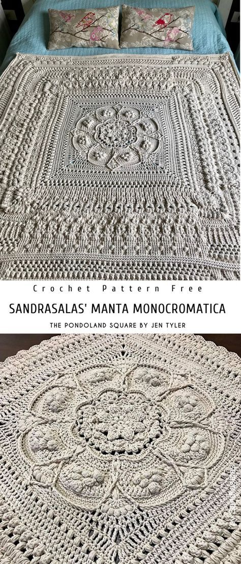 Pinned on Pinterest: The Pondoland Square Crochet Pattern Free thumbnail