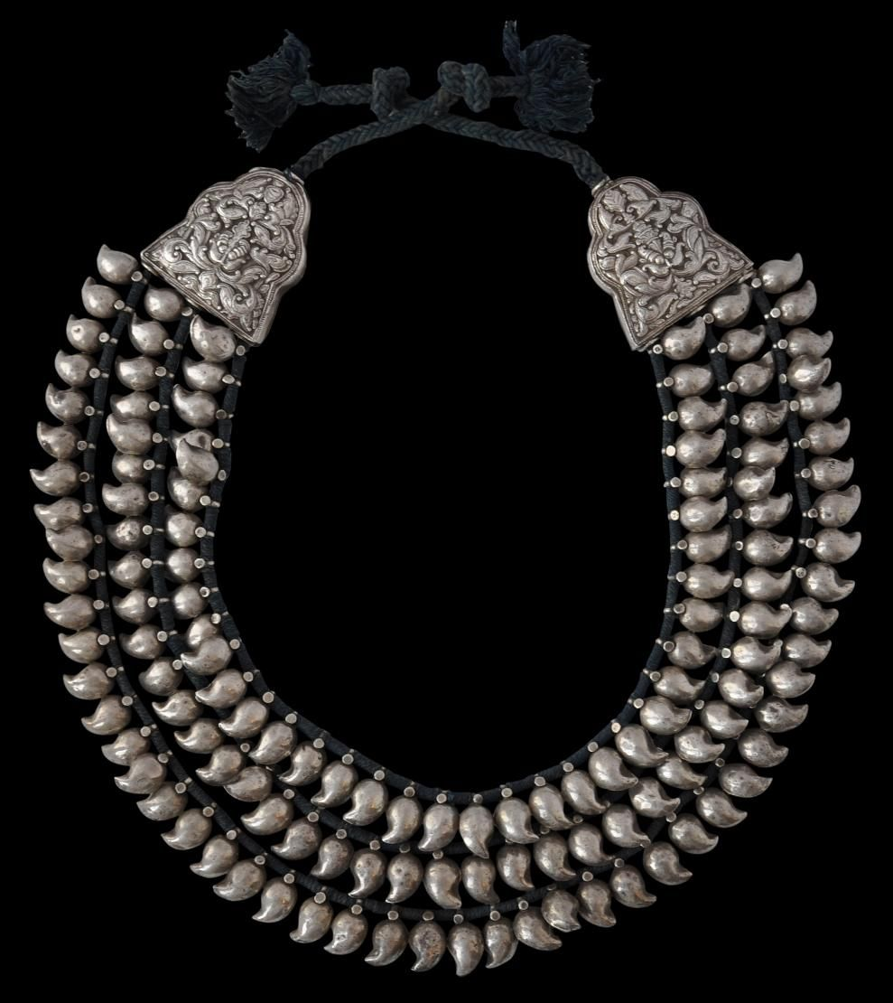 South indian silver mango necklace | jewelry | Pinterest | South ...