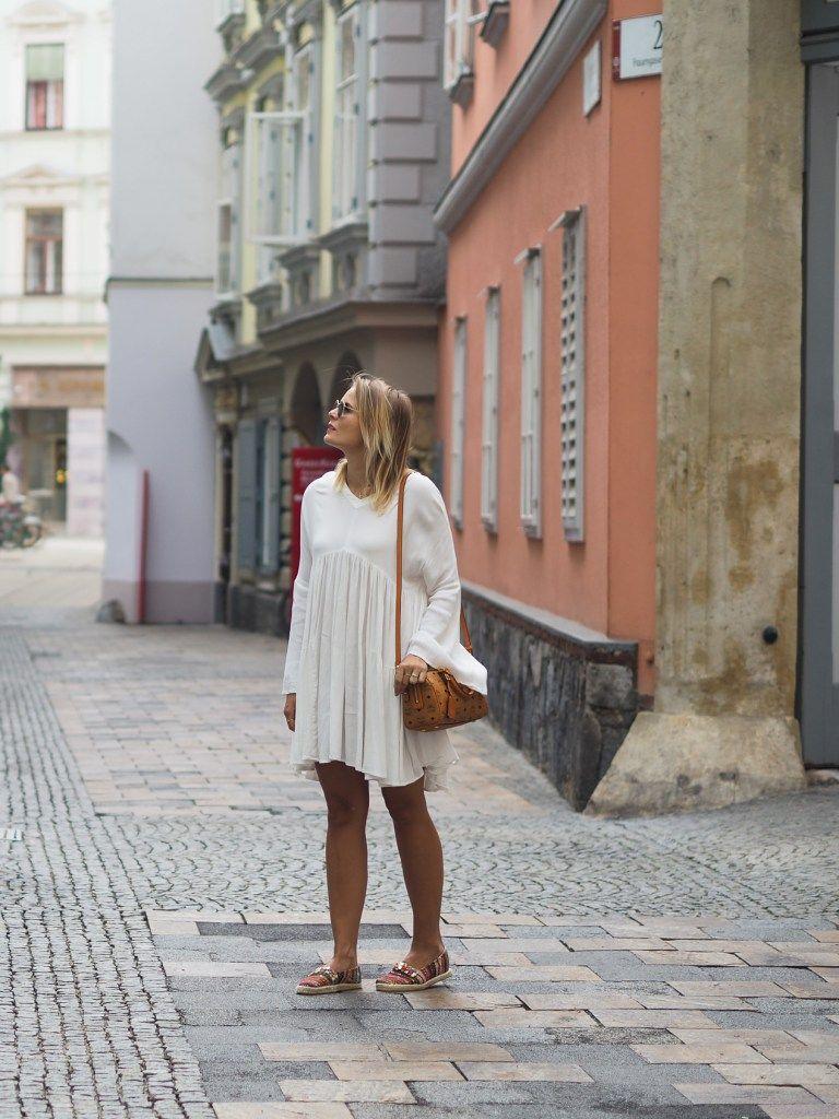 Outfit Volant Kleid und meine neue MCM Tasche | Outfit