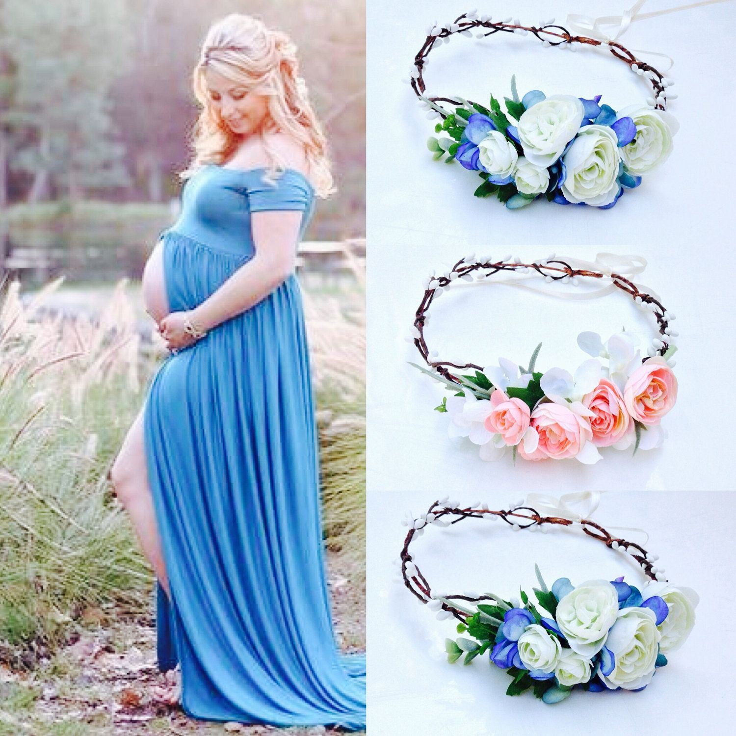 Maternity outfits maternity photo prop Maternity Flower crown