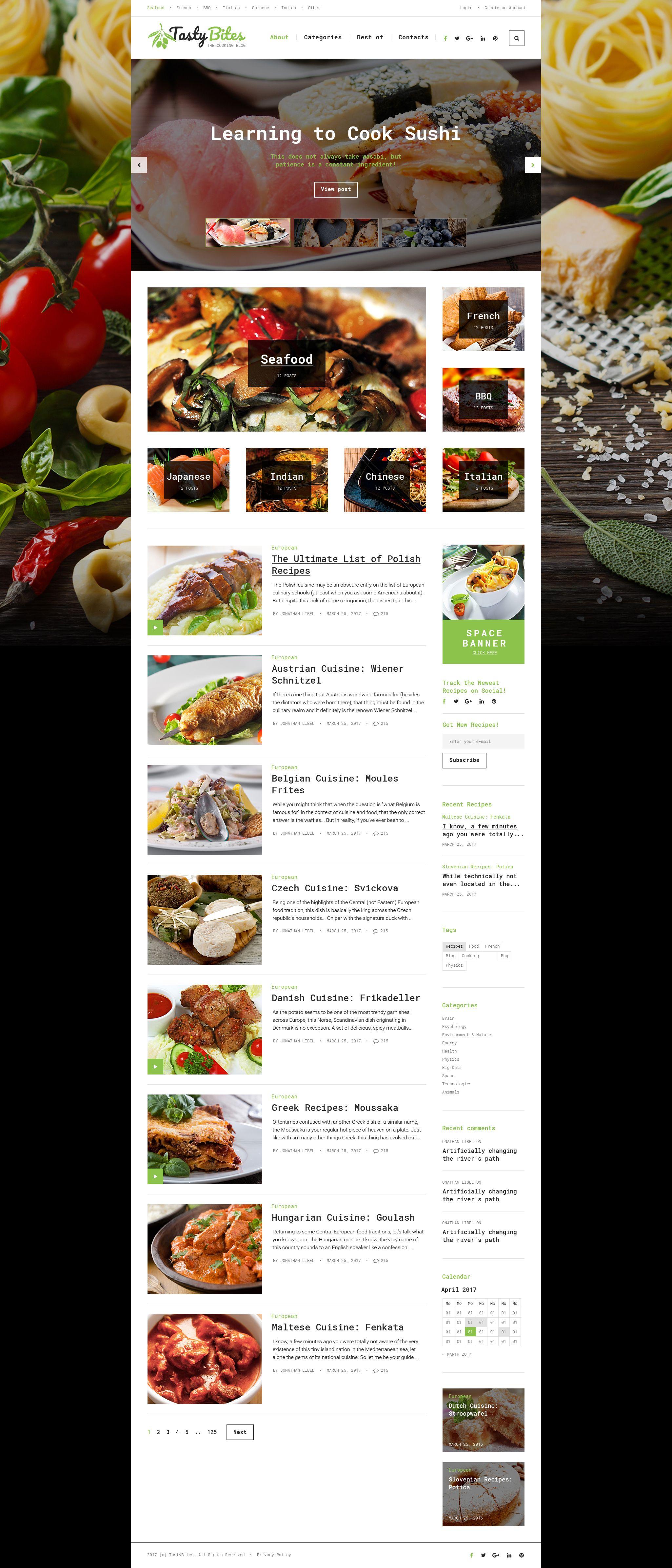 wordpress theme tastybites recipe website template pinterest