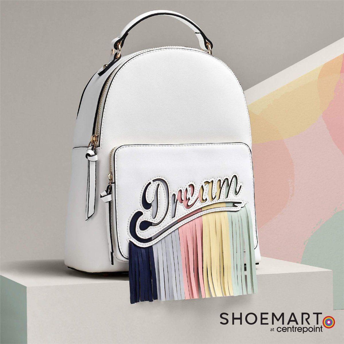 امزجي الرقي مع طراز عصري مناسب لفصل الربيع تسوقي الآن في متاجرنا وأونلاين سنتربوينت Shoemartgulf P Img Src H Fashion Backpack Backpacks Jollychic