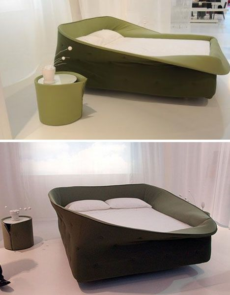 Cozy bed frame with soft sides that you can flip up and down! Seems almost