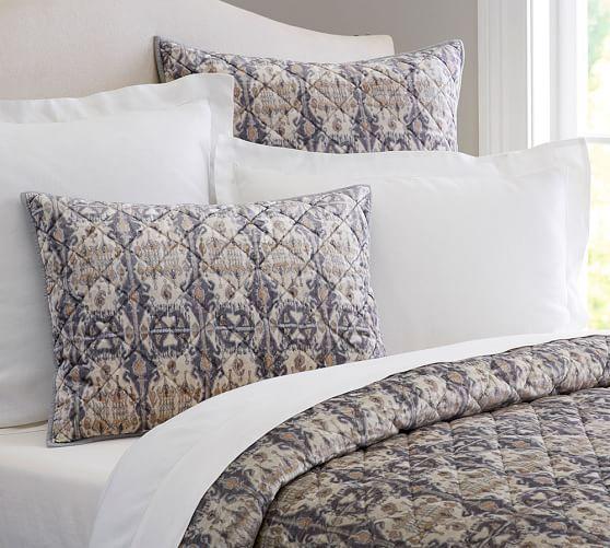 sonja ikat velvet print quilt shams king quilt and 2 king shams jill 39 s christmas list. Black Bedroom Furniture Sets. Home Design Ideas