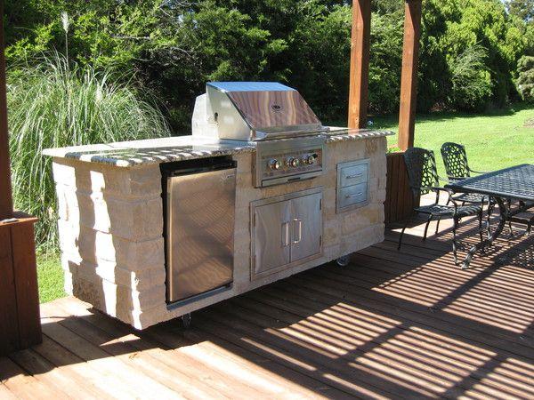 8 Foot Outdoor Kitchen Granite Real Stone Beach House Exterior Outdoor Kitchen Granite Kitchen
