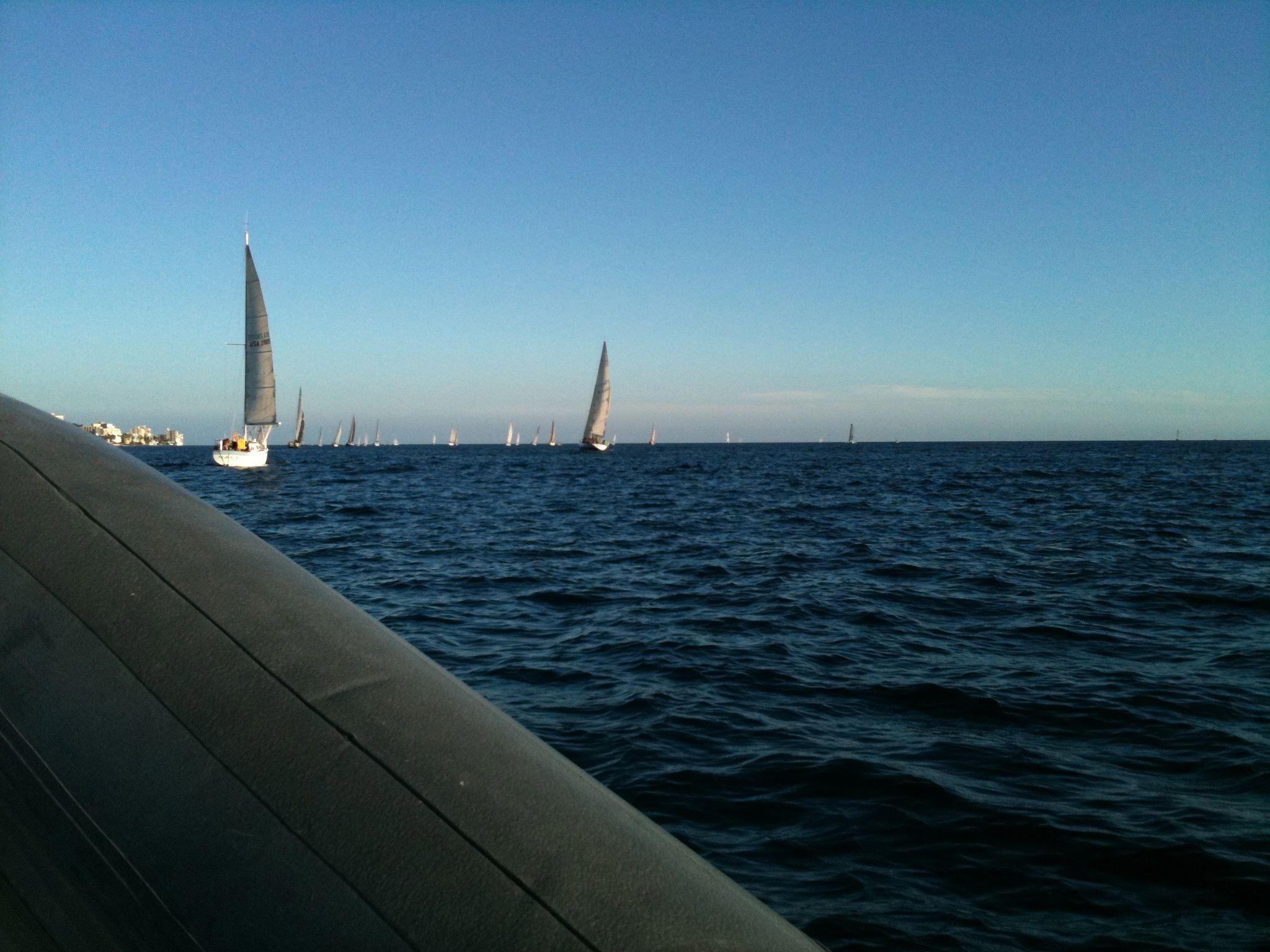 sailing race off of Waikiki ,Hawaii