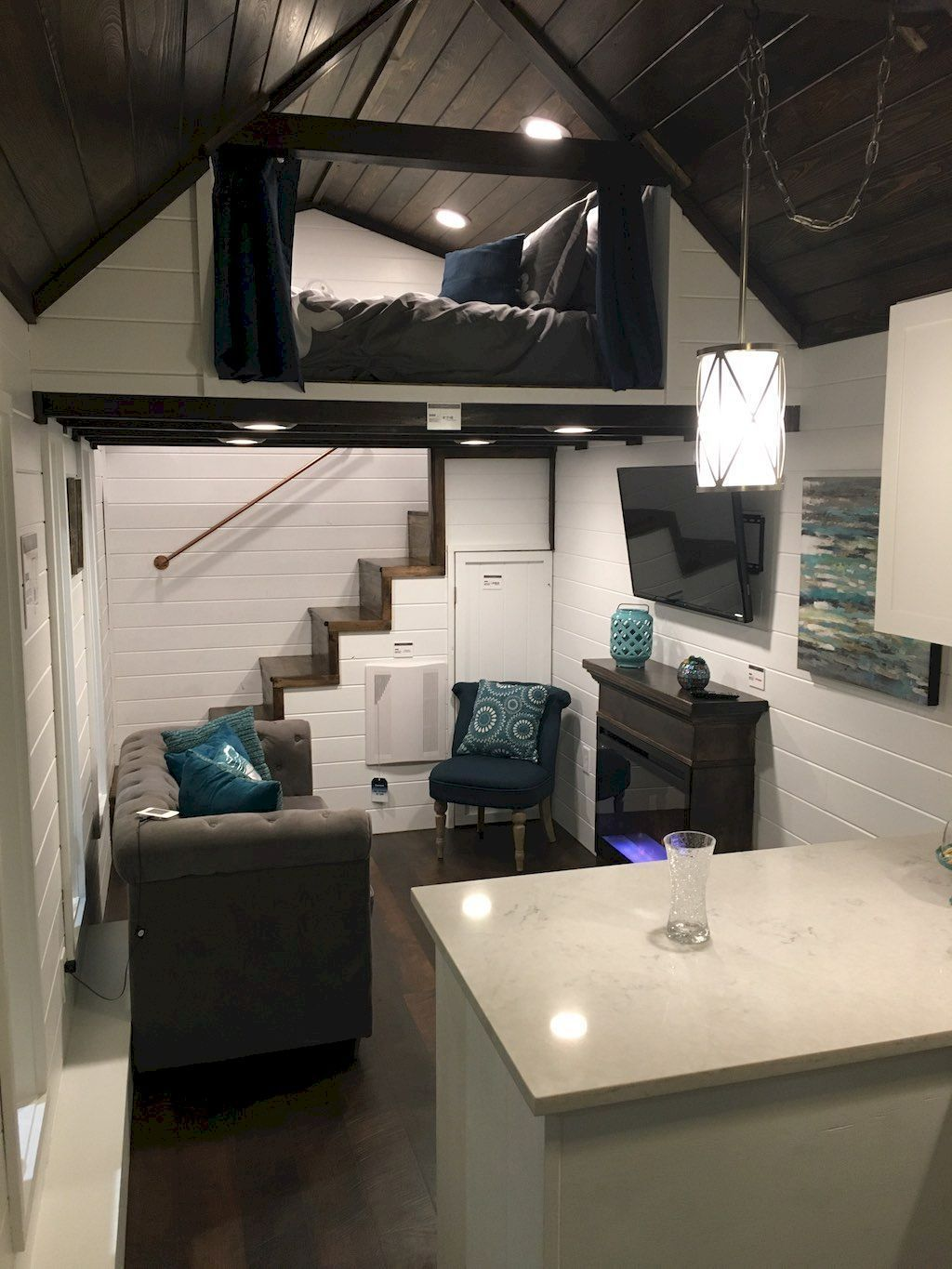 Best Tiny House Interior Design Ideas #houseinterior