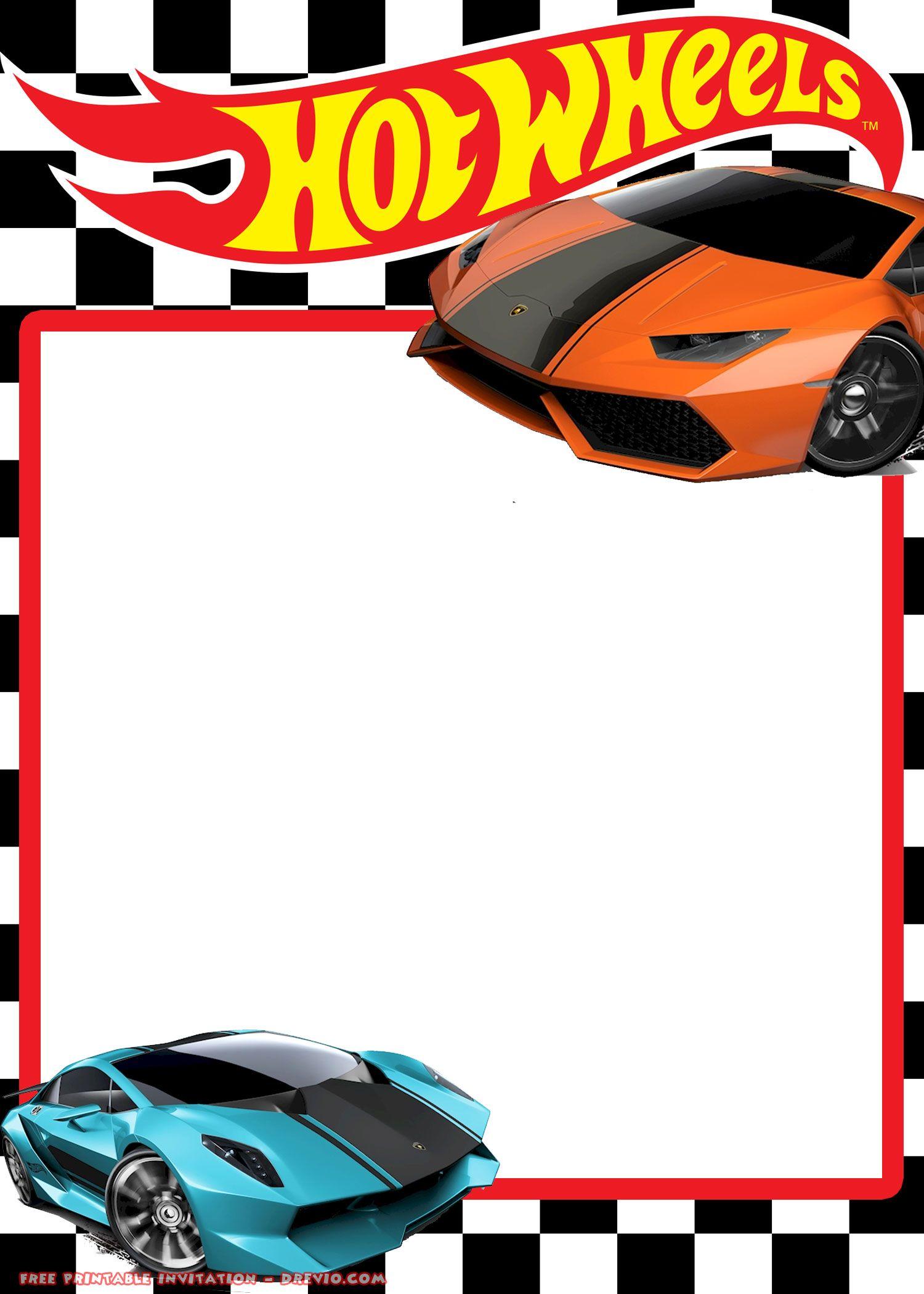 FREE Hot Wheels Lamborghini Invitation Templates | Festa | Pinterest ...