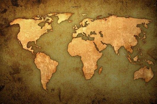 Old School World Map | woestenhoeve