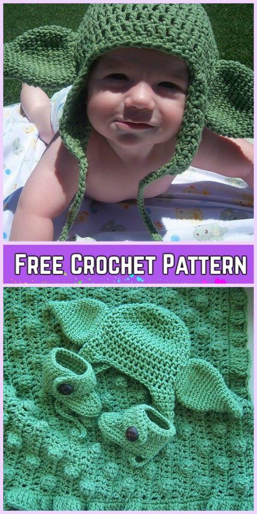 Crochet Baby Yoda Costume Pattern | Pinterest | Gorros, Tejidos de ...