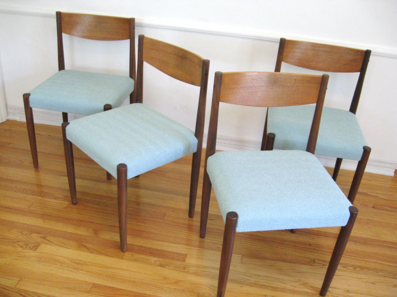 60s Danish Modern Teak Wood Vintage Dining Chairs By Fabulousmess