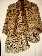 Vintage 30s Stunning  Fur GEOFFREY'S CAT  cape with muff & beanie hat sz 10 vgc