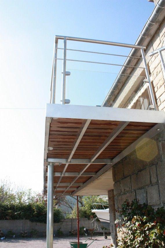 Terrasse En Structure Aluminium Terrasse Terrasse Piscine Travail Photo