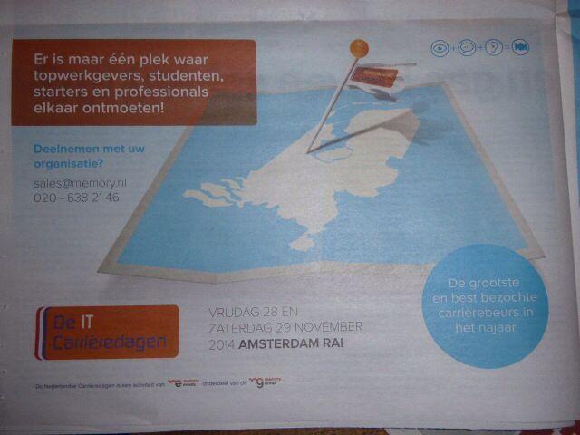 Mooi werk bij IT Carriere Dagen 12-9-2014