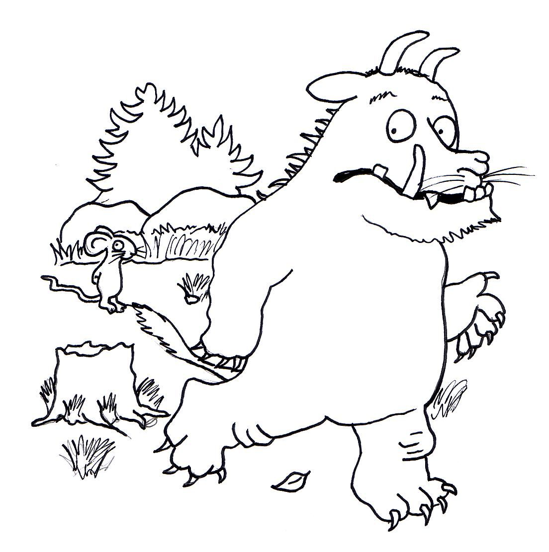 The gruffalo colouring pages to print - Maximonsters Inkleurprenten Google Zoeken