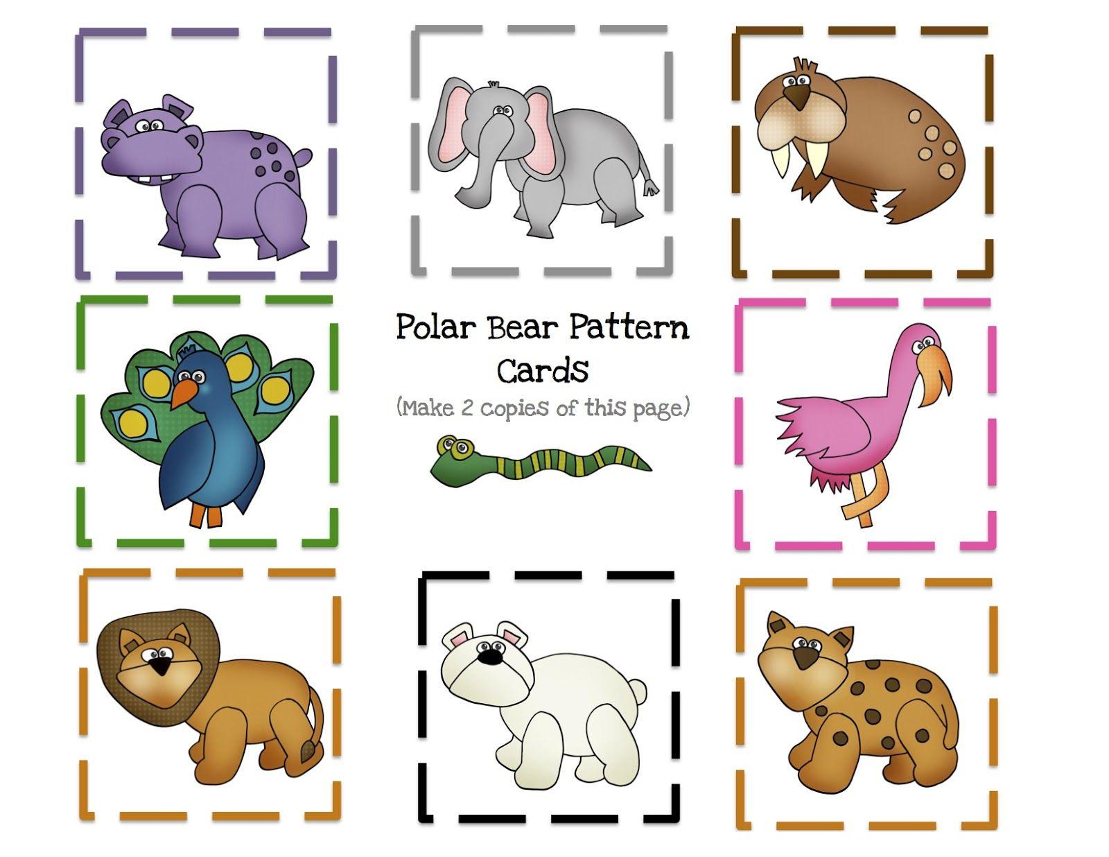 Polar Bear 8 Pattern Cards 1 600 1 236 Pixels