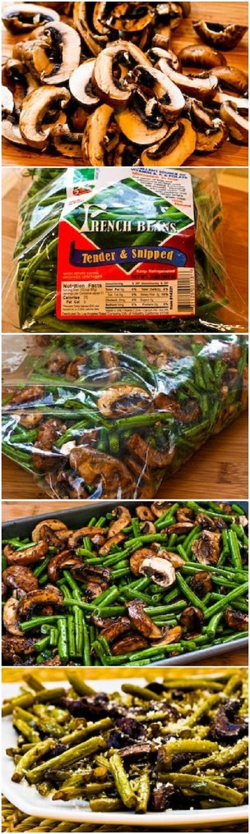 ... Recipes, #9 Roasted Green Beans with Mushrooms, Balsamic, and Parmesan