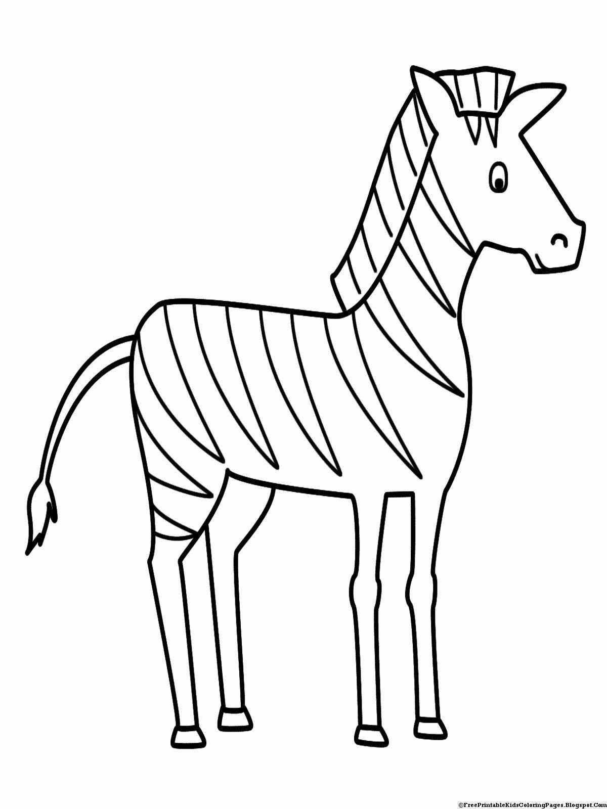 Coloring Book Pages Animals Fresh Zebra Coloring Pages Free Printable Kids Coloring Pages In 2020 Zebra Drawing Zebra Coloring Pages Animal Coloring Books