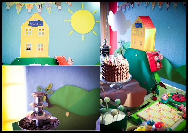 Peppa Pig themed Birthday party for her two adorable twins by Supriya
