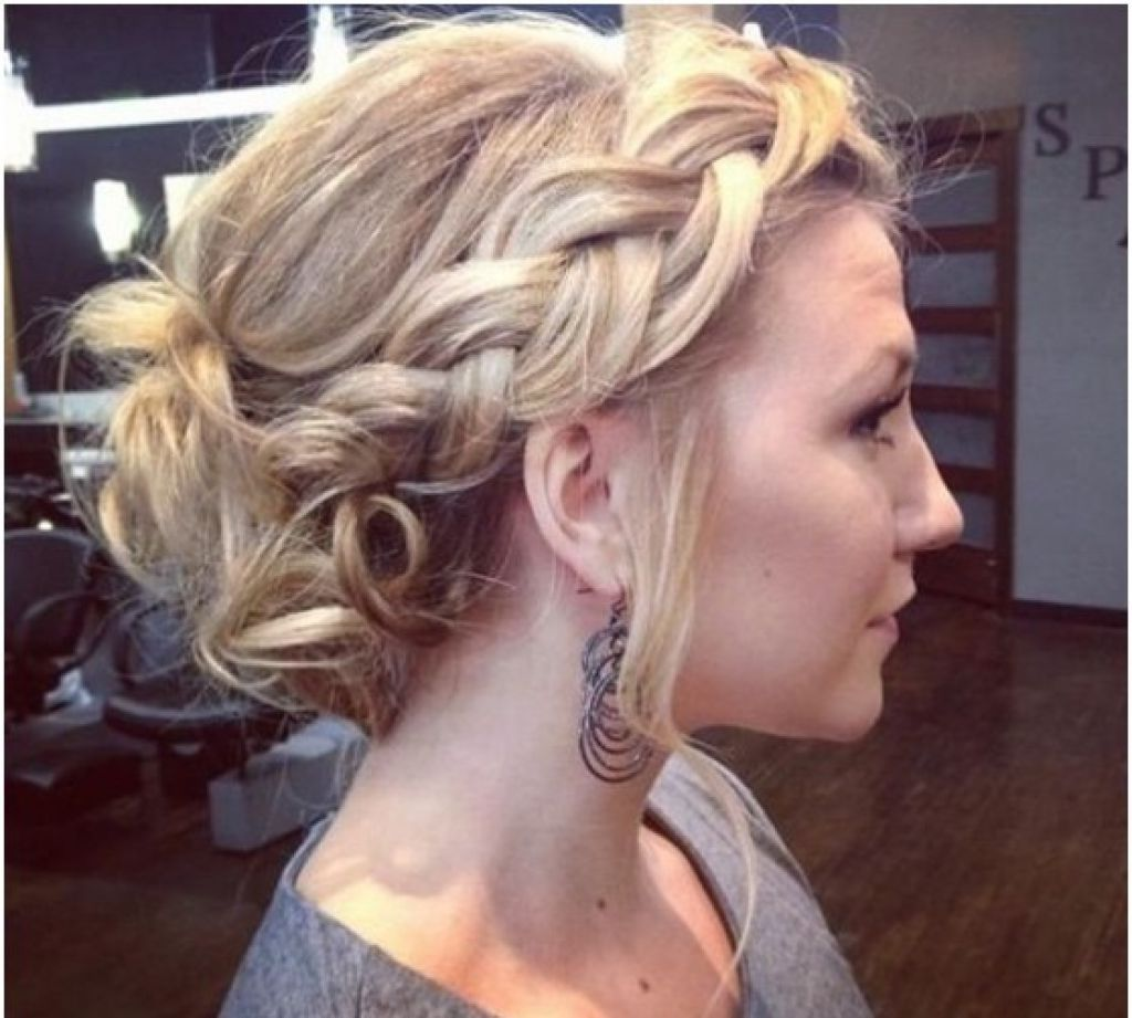Soft Updo Hairstyles Soft Loose Waterfall Braided Bun Romantic Updo